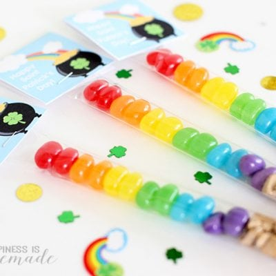 St. Patrick's Day Candy Treat Bags + Printable