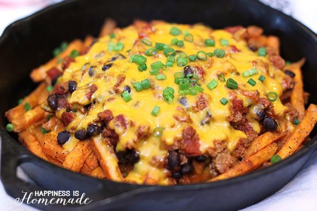 Skinny Chili Cheese Fries with Alexia Sweet Potato Fries