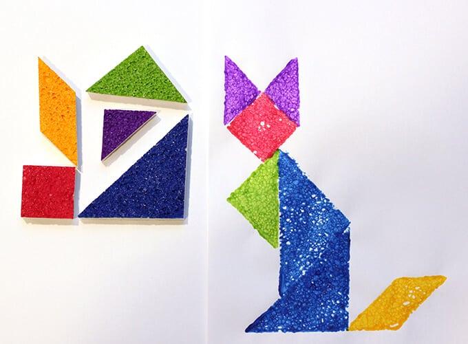 Tangram Sponge Stamps