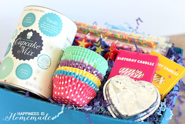 Cupcake Birthday Party Gift Box