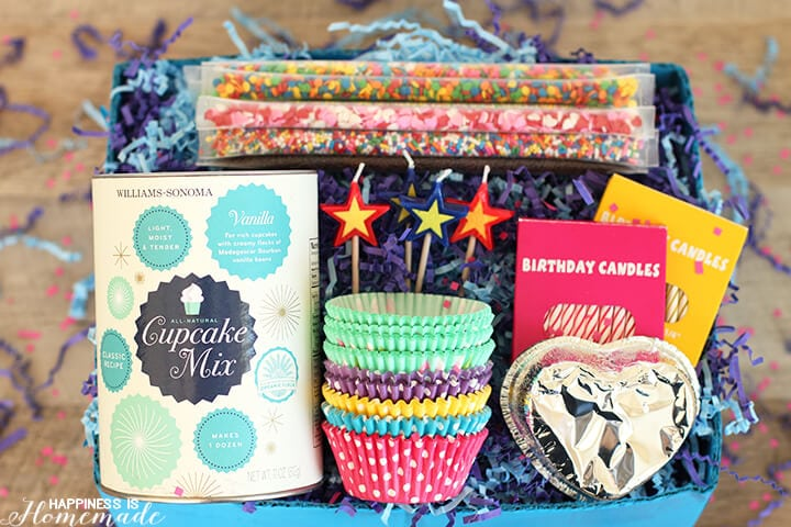 Cupcake Birthday Party in a Box Gift Idea