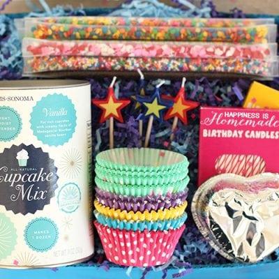 Cupcake Birthday-in-a-Box Gift Idea