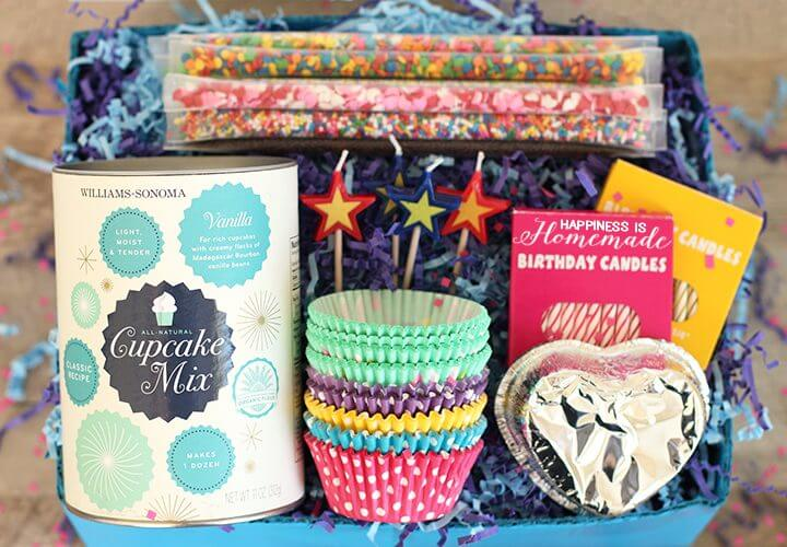 Cupcake Birthday-in-a-Box Gift Idea
