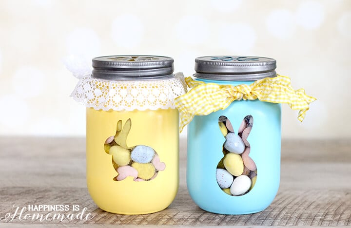 Easter Bunny Candy Treat Jars