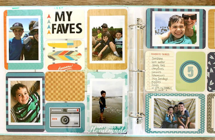 Easy Scrapbooking with timeshel and Project Life
