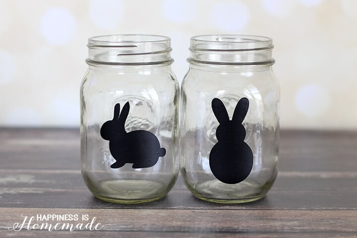 Glass Bunny Jars