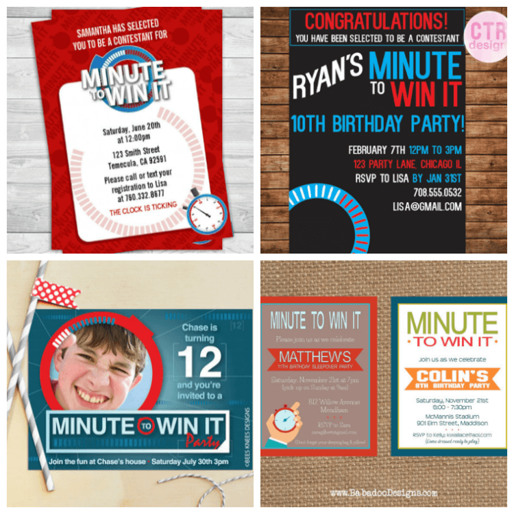 This Post May Contain Affiliate Links Minute To Win It Birthday Party Invitations