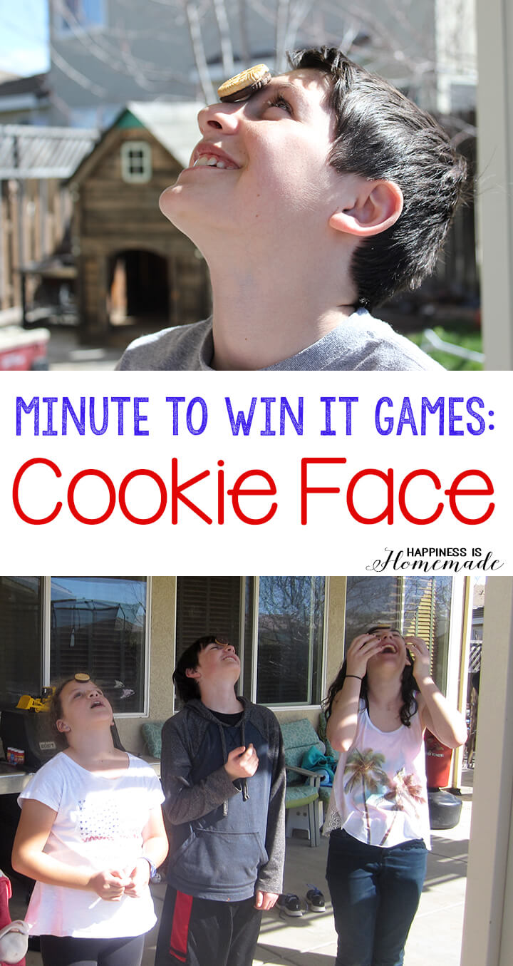 minute to win it games cookie face