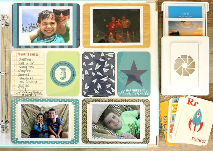 Quick Scrapbooking Layout