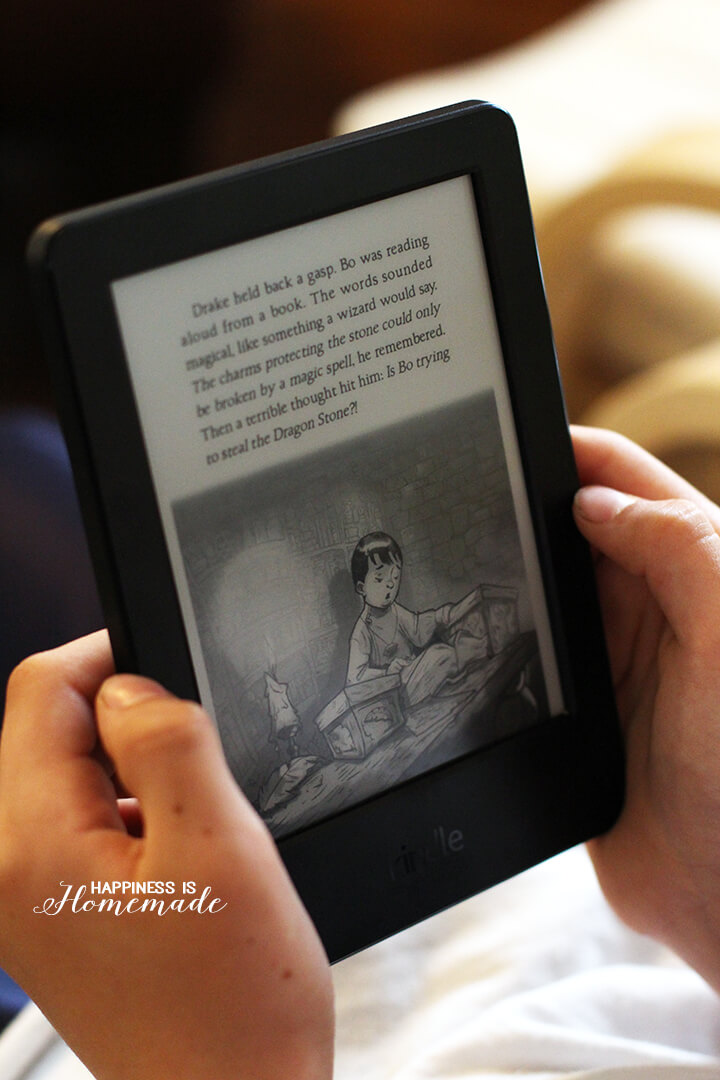 Reading on the Kindle e-reader