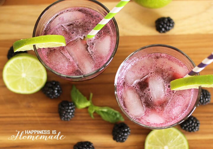 Refreshing Blackberry and Lime Fizz Cocktail