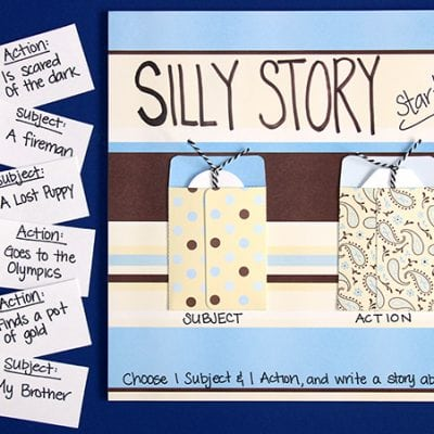 Silly Story Starters Board