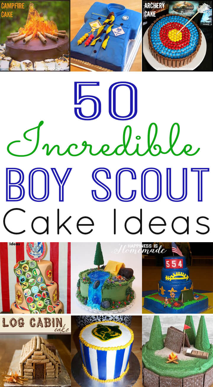 Cake Decorating Ideas For Boy Scouts : 50 Incredible Boy Scout Cake Ideas - Happiness is Homemade