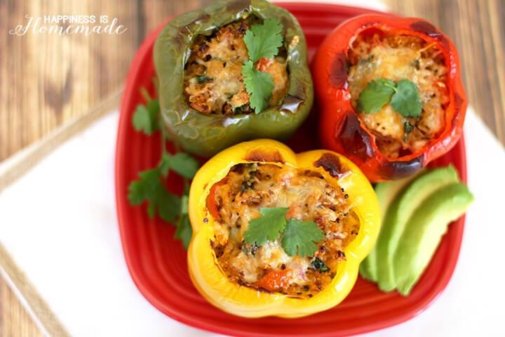 Bumblebee Tuna Stuffed Bell Peppers