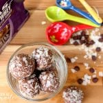 Chocolate Coconut No Bake Protein Bites