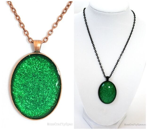 DIY Evanora Inspired Emerald Oz Necklace