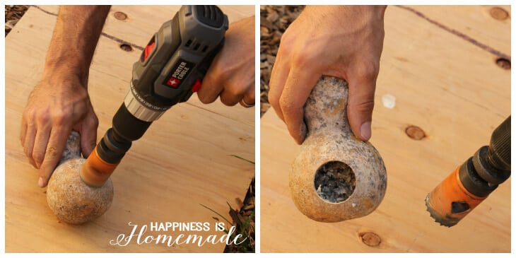 Drilling a Gourd