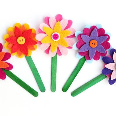 Felt Flower Bookmarks
