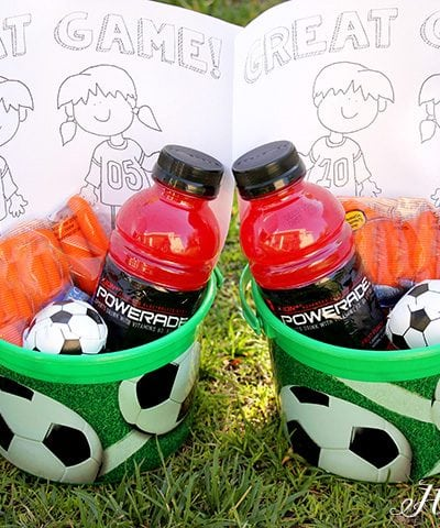 Soccer Snack Idea with Coloring Sheet 2
