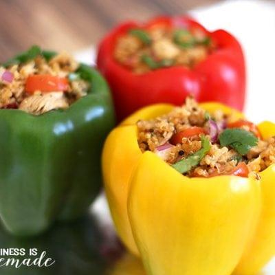 Mexican Tuna & Quinoa Stuffed Peppers