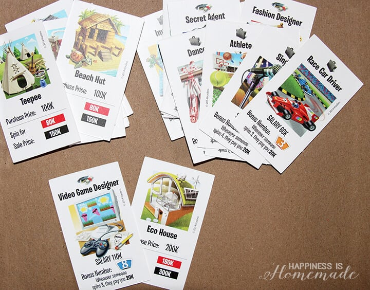 Bewitching image in game of life career cards printable