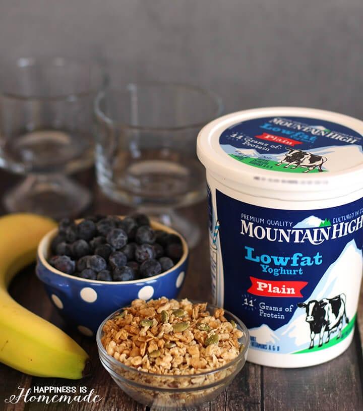 Breakfast Parfaits with Mountain High Yoghurt