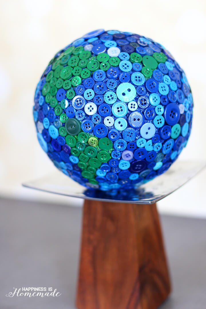 Button Globe from a Styrofoam Ball