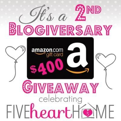 Giveaway: $400 Amazon Gift Card!