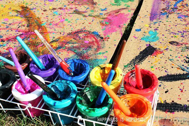 Jackson Pollock Style Painting