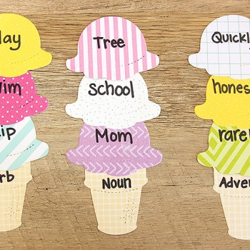 Language Ice Cream Cone Activity