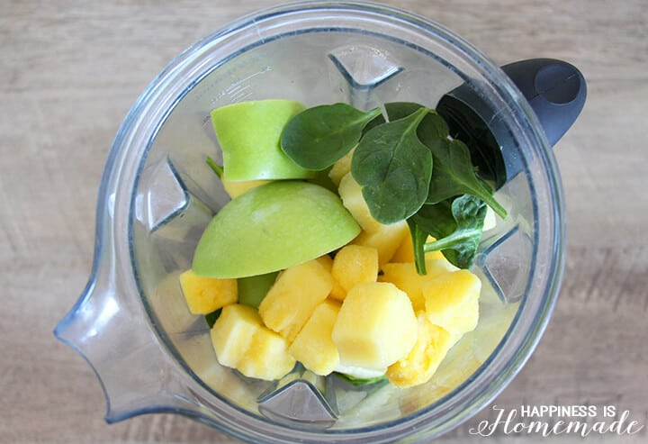 Mean Green Machine Smoothie Ingredients in Blender