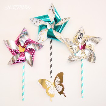 Metallic Foil Pinwheels with the Minc by Heidi Swapp