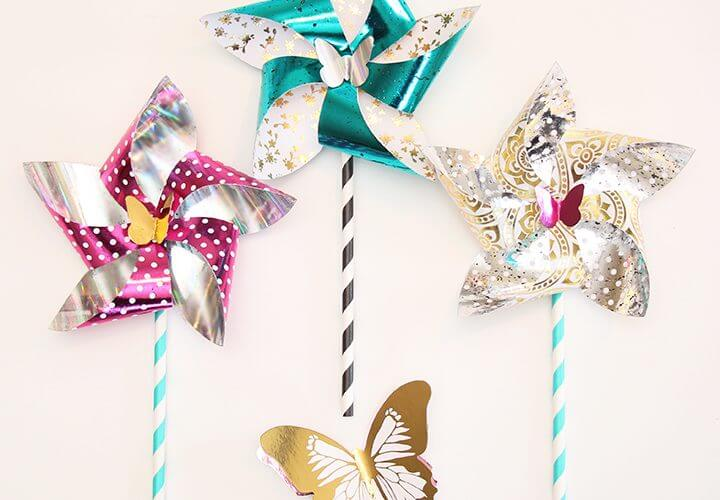 Metallic Foil Pinwheels + SNAP! Highlights