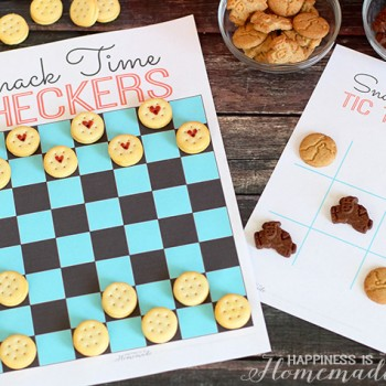 Printable Snack Time Board Games