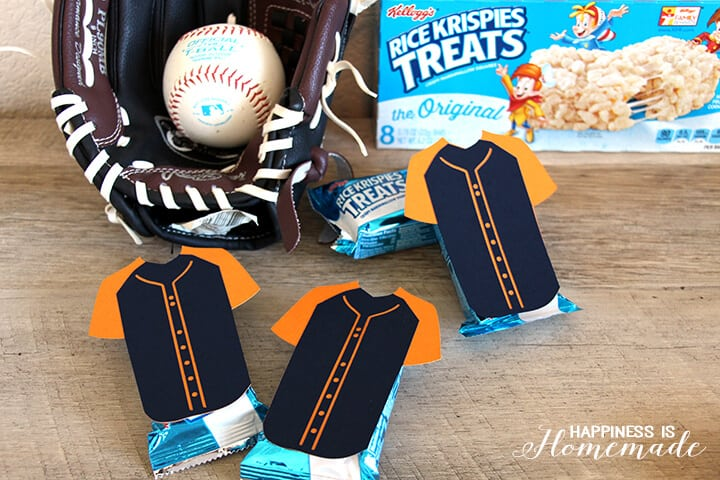 Rice Krispies Treats with Baseball Jerseys