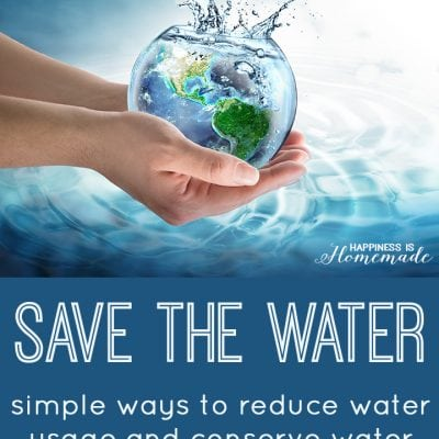 Save the Water: Ways to Help Conserve Water