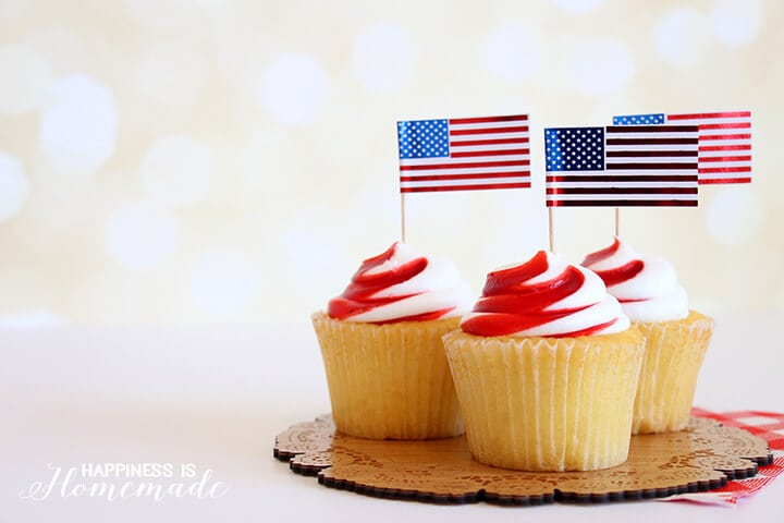 4th of July Cupcake Picks
