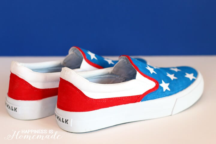 DIY 4th of July Shoes with Elmers Painters
