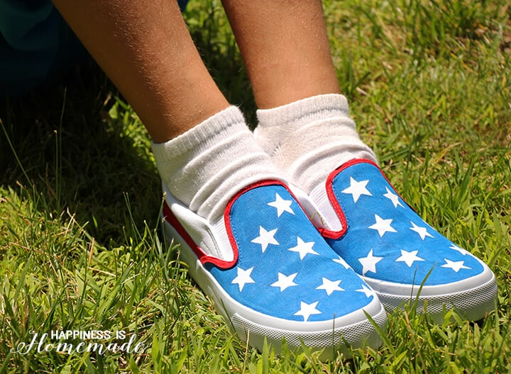 DIY Patriotic Shoes for the 4th of July 1