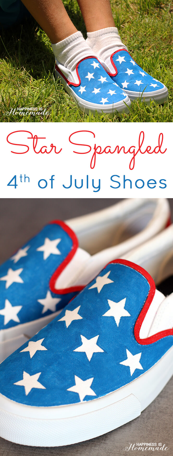 DIY Star Spangled Shoes 4th of July Craft