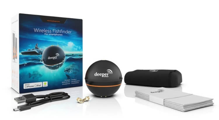 Deeper wireless fish finder portable sonar depth device for Iphone fish finder