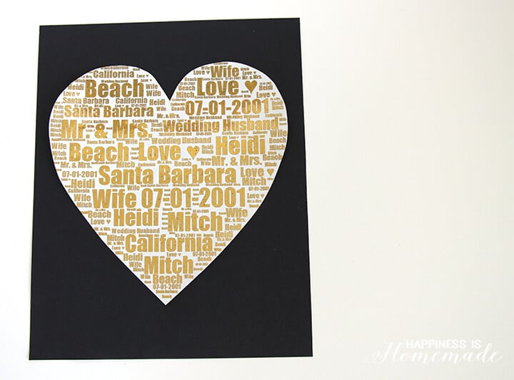 Gold Foil Wedding Print Gift