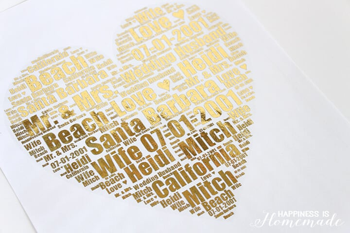 Gold Foil Wedding Print