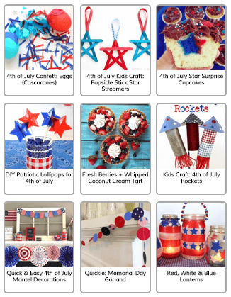 Happiness is Homemade 4th of July Crafts