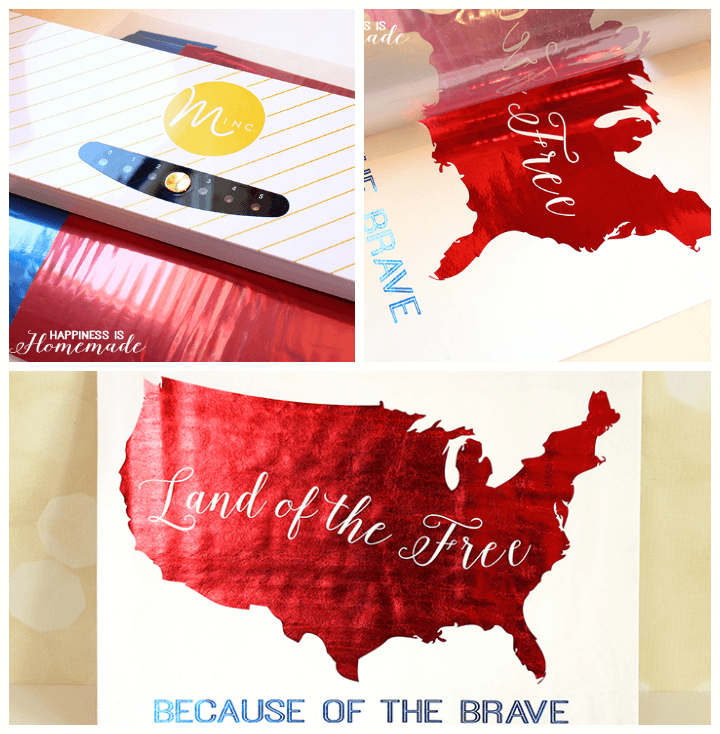 Land of the Free Metallic Foil Printables for 4th of July