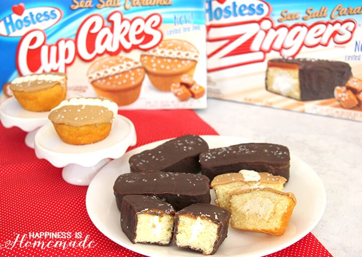 Limited Time Only Hostess Sea Salt Caramel CupCakes and Zingers