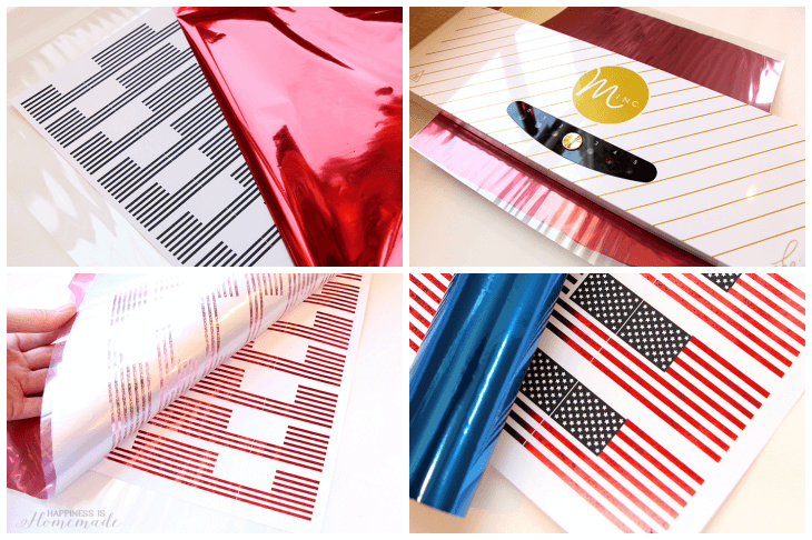 Making Metallic Foil Flags with the Minc for 4th of July