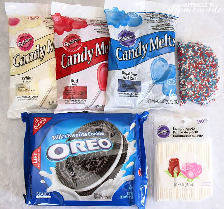 Oreo Pop Ingredients and Supplies