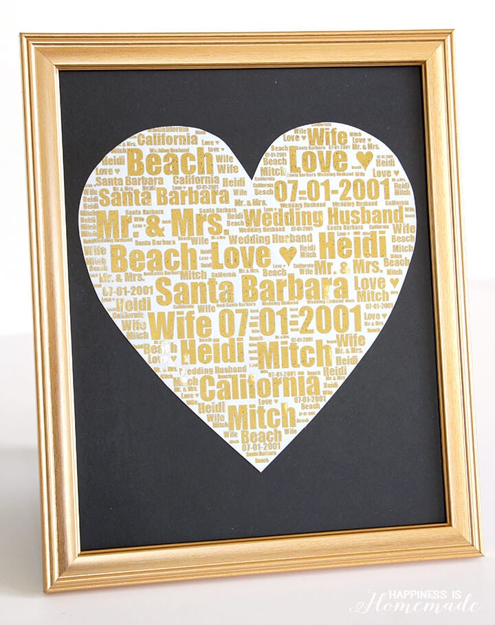 Personalized Gold Foil Wedding Print