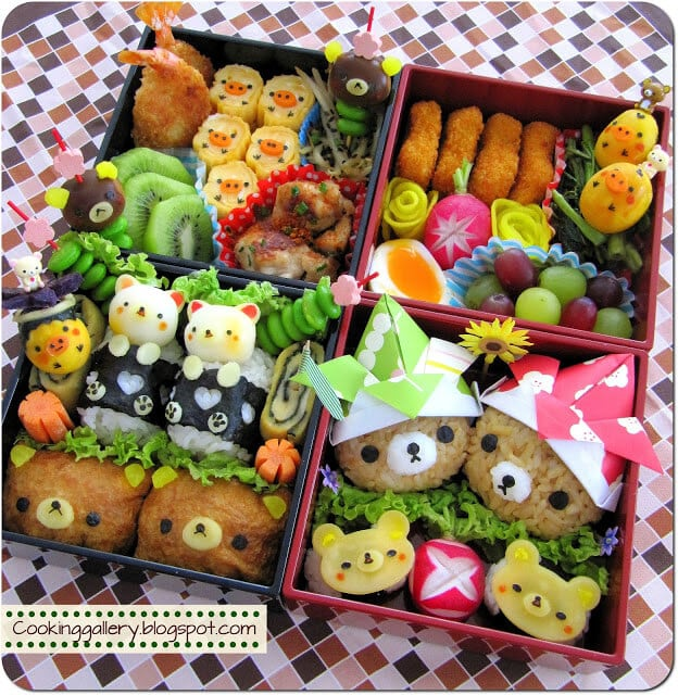 35 quick easy bento lunch boxes happiness is homemade. Black Bedroom Furniture Sets. Home Design Ideas
